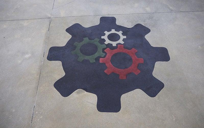 cemento colorato levigato lucidato