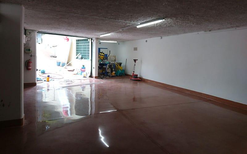 trattamento levigatura e lucidatura pavimento in cemento