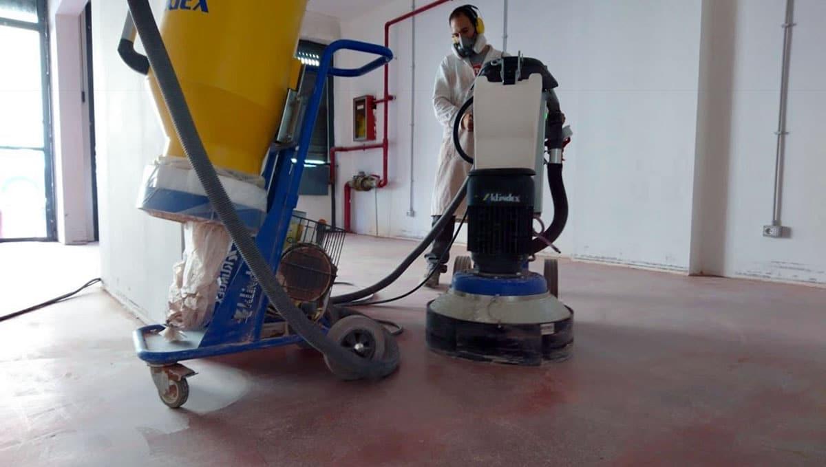 levigatura pavimenti in cemento industriale roma