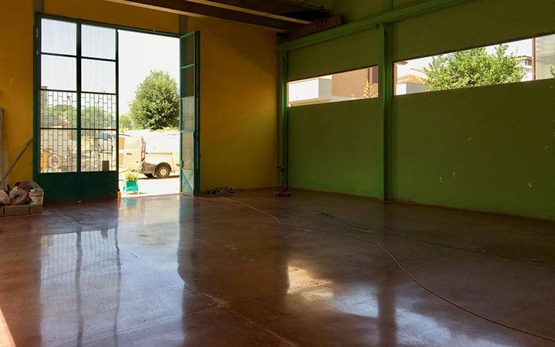 trattamento silicati di litio pavimento in cemento